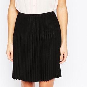 ASOS Petite pleated black skirt